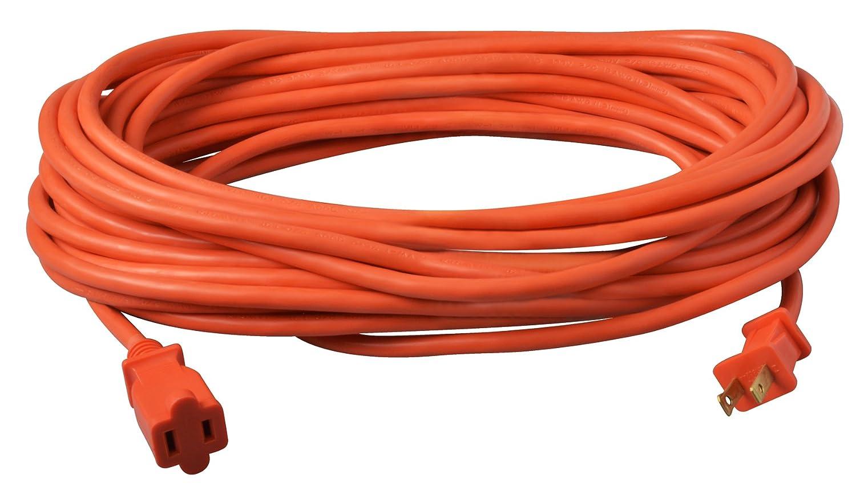 50-Feet 22088803 Orange Coleman Cable 02208 16//2 Vinyl Outdoor Extension Cord