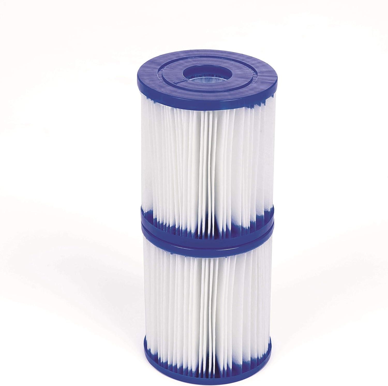 Bestway 58093 - Set de Dos Filtros de Agua Tipo I para Depuradora de Cartucho 1.249 litros/hora