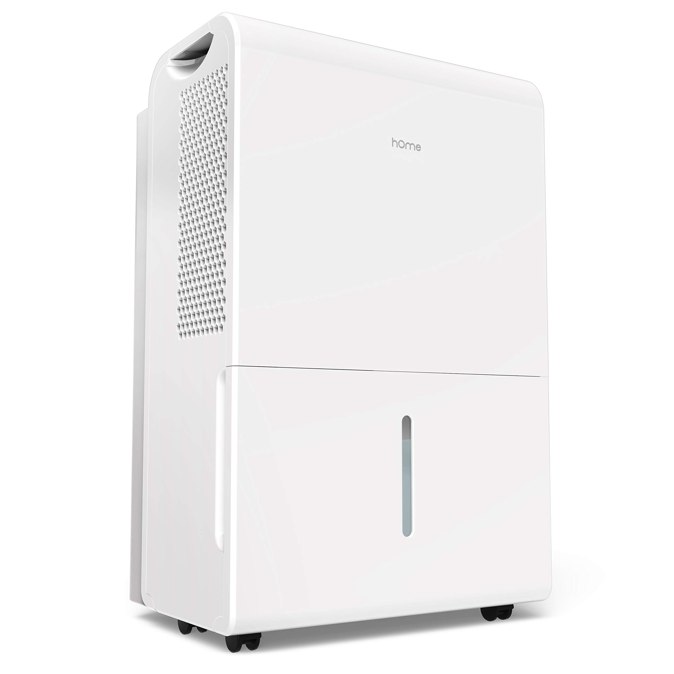 hOmeLabs 4000 Sq Ft Dehumidifier 70 Pint Energy Star Safe Mid Size Portable Dehumidifiers for Basements & Large Rooms with Fan Wheels and Continuous Drain Hose Outlet to Remove Odor