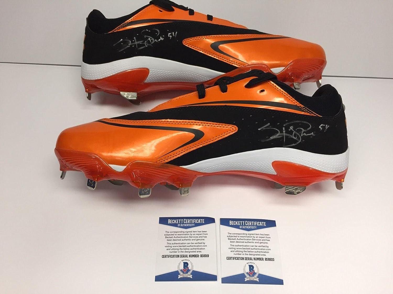 Sergio Romo Signed Orange/Black Under