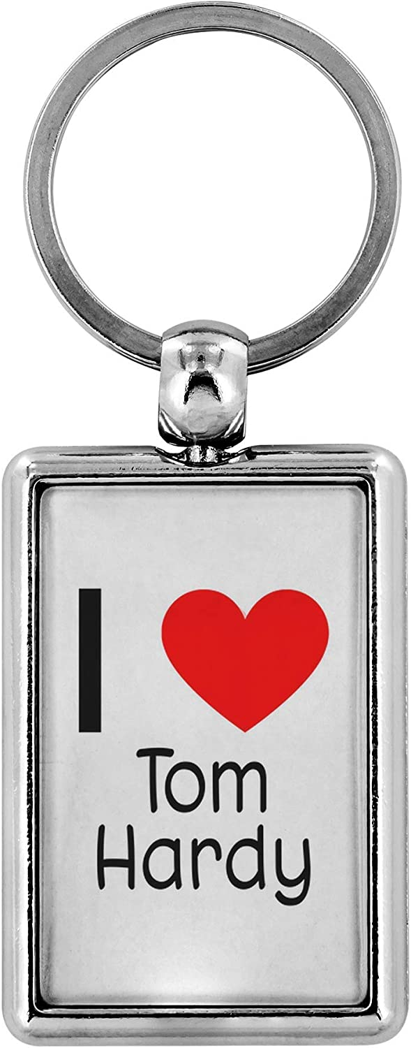 "I Love Tom Hardy Keychain Keyring 1.25/"" x 3/"" Tom Hardy Merchandise Shiny Metal Keychain Keyring For Fans Of Tom Hardy!"