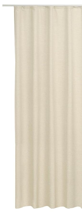Gardine Elegant Meliert Vorhang Blickdicht Kräuselband Übergardine Ca.  140x240 Cm Sand Beige