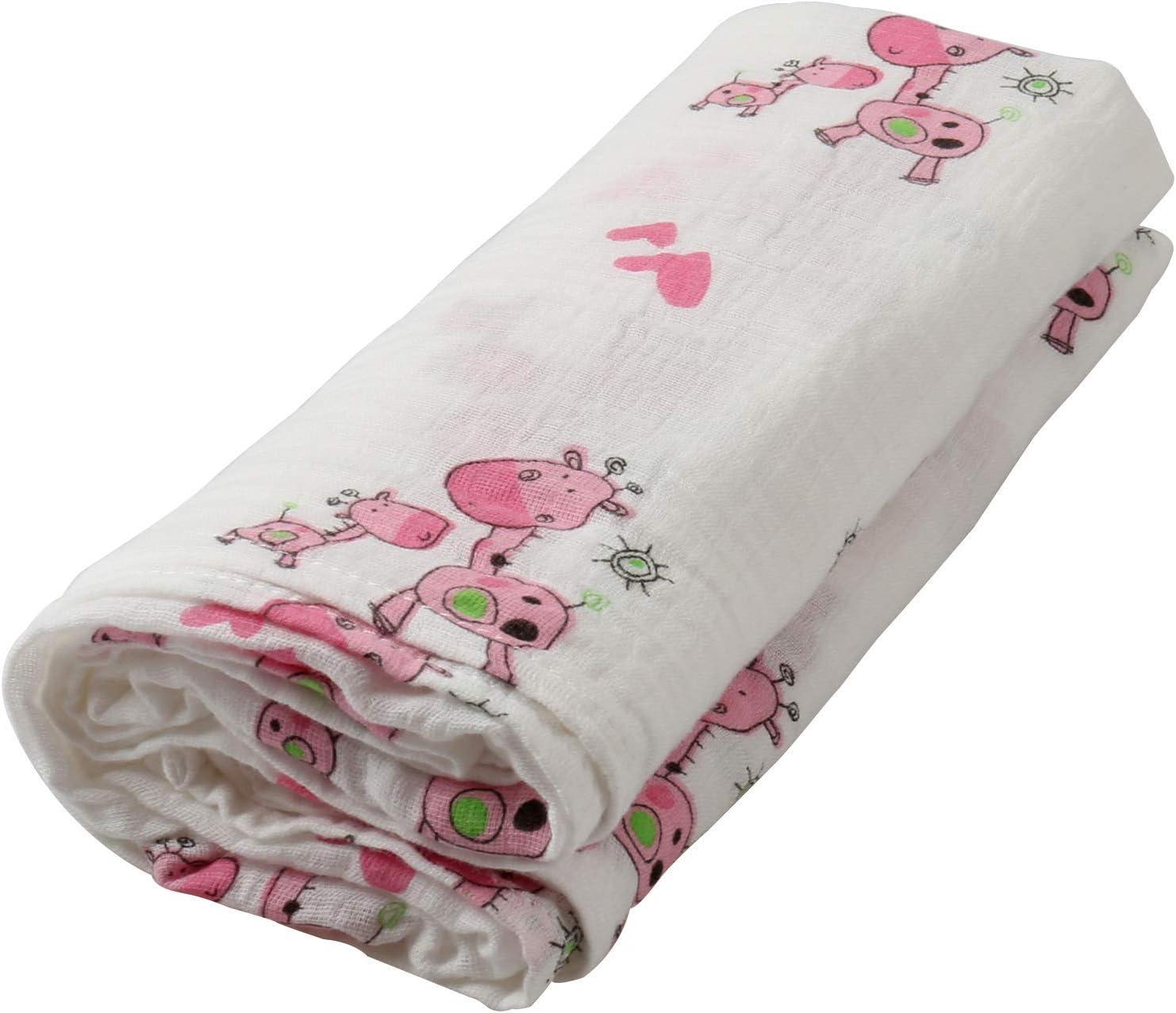 couverture /à langer en coton bio Id/éal pour un cadeau de naissance 120x120cm Grande couverture /à langer pour b/éb/é fleur doranger Couverture de b/éb/é en mousseline