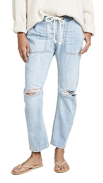 One Teaspoon Womens Shabbies Drawstring Boyfriend Jeans