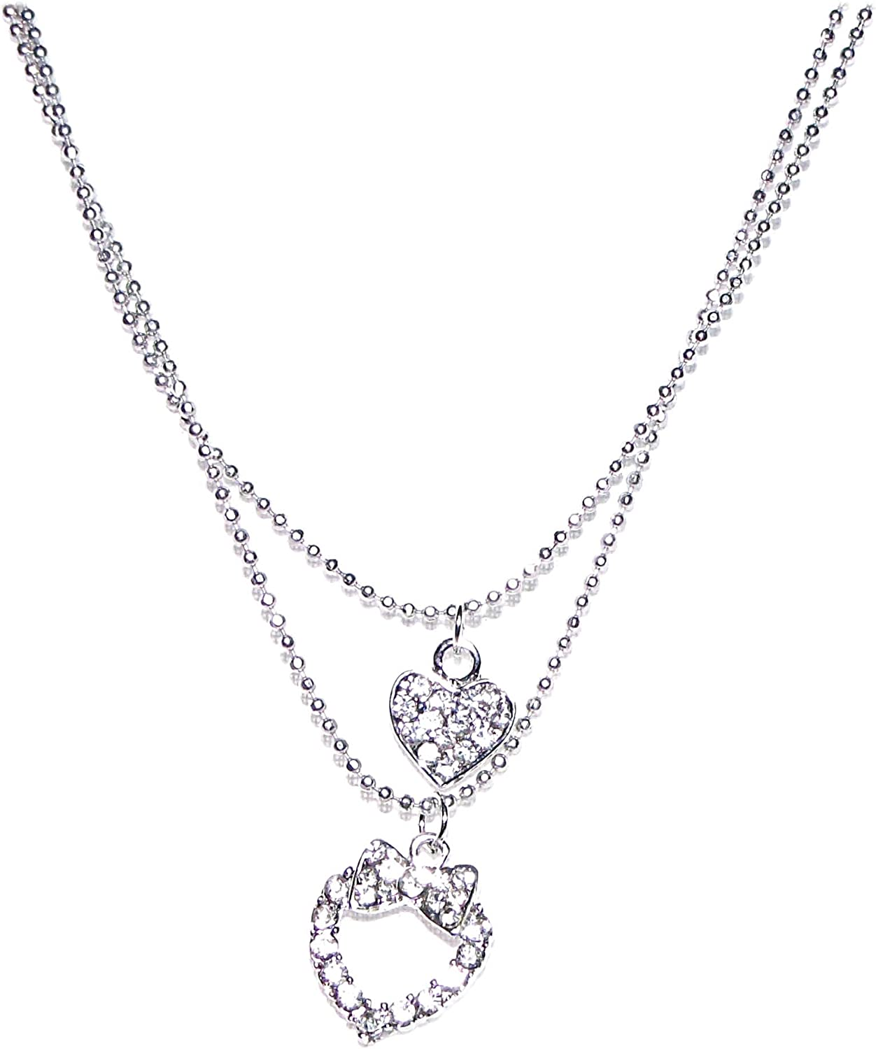 V G S Eternity Fashions Fashion Jewelry ~ Crystal Hearts Anklet Anklet 81291A