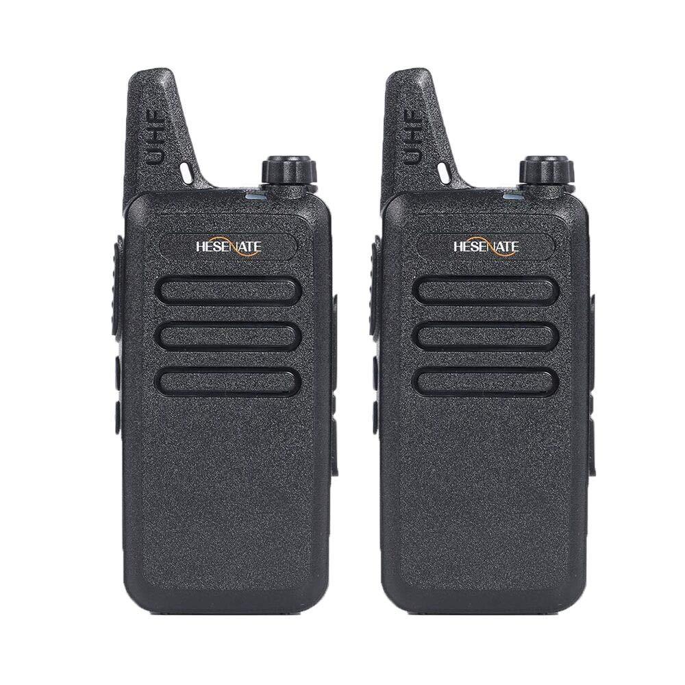 HESENATE HT-U222 Long Range 3-Watt Uhf 400-470Mhz//70cm 16-Channel Portable FRS//GMRS Two-Way Radio Vox Rechargeable 1500mAh Li-Ion Battery Walkie Talkies Pack of 2