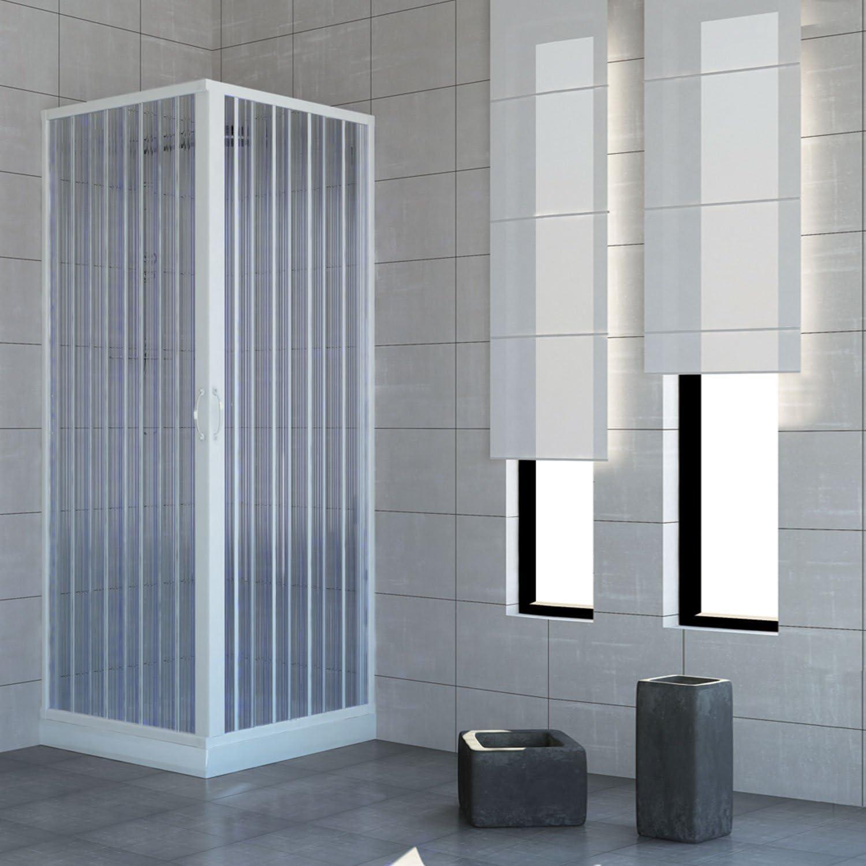 Mampara de ducha de dos puertas con cierre de ángulo de 90º ...