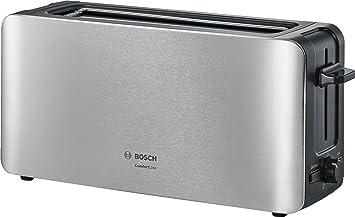 Bosch ComfortLine Tostadora de ranura larga, 1090 W, centrado automático de la rebanada, función de descongelación 2, Negro, Acero inoxidable: Bosch: ...