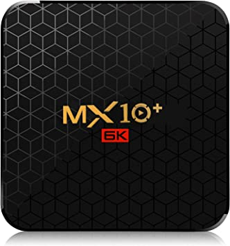 MX10 Plus Android TV Box Android 9.0 Smart TV Box 4G RAM 32G ROM H6 Quad-Core cortex-A53 CPU 2.4G 5G WiFi Bluetooth 4.0 Support 4K 6K H.265 USB 3.0 Set Top Box: