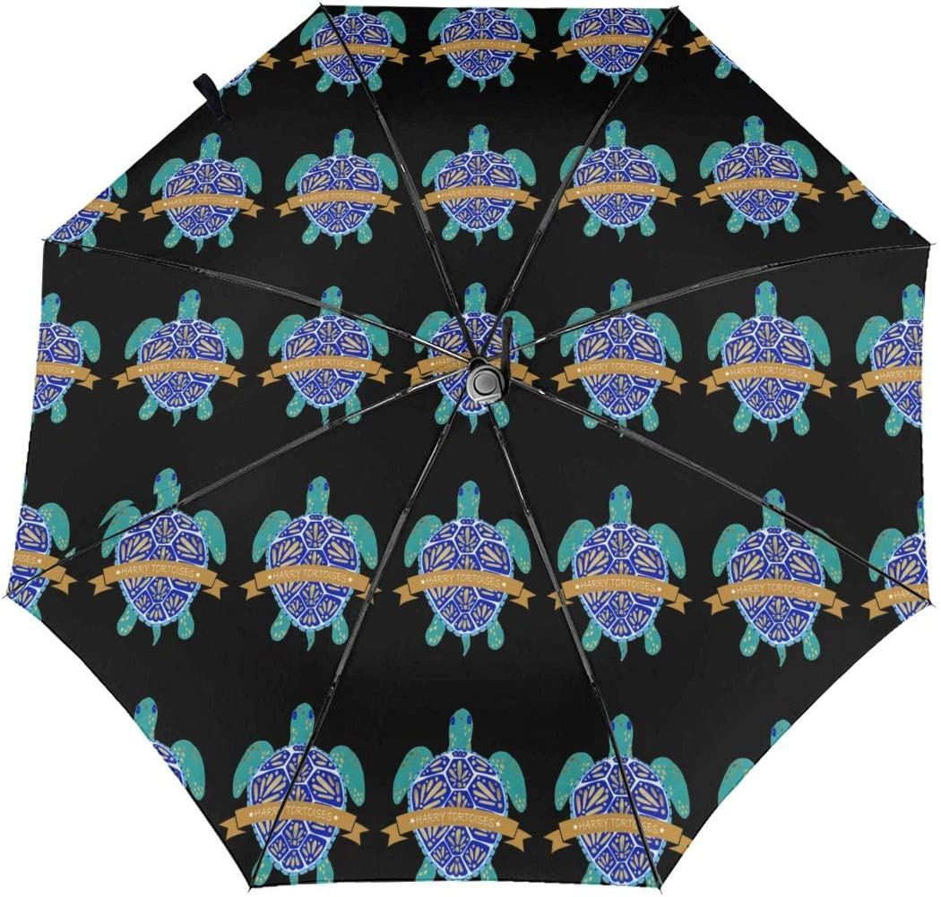 Turtle Automatic Tri-Fold Umbrella Parasol Sun Umbrella Sunshade