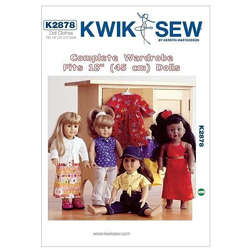 Kwik Sew Mustern k2878 18 Puppe Kleidung Größe passt Puppen, weiß, 1 ...