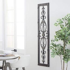 Deco 79 96553 Metal Wall Plaque Unique Vertical Wall Fixer
