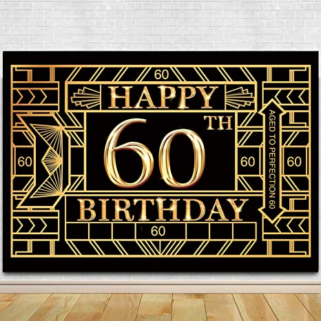 Amazon.com: Fondo de fotografía para 60 cumpleaños – fondo ...