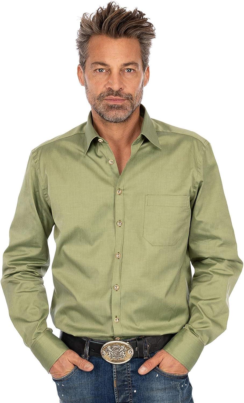 OS 120012-3283-54 - Camisa de manga larga, color verde oliva: Amazon.es: Ropa y accesorios