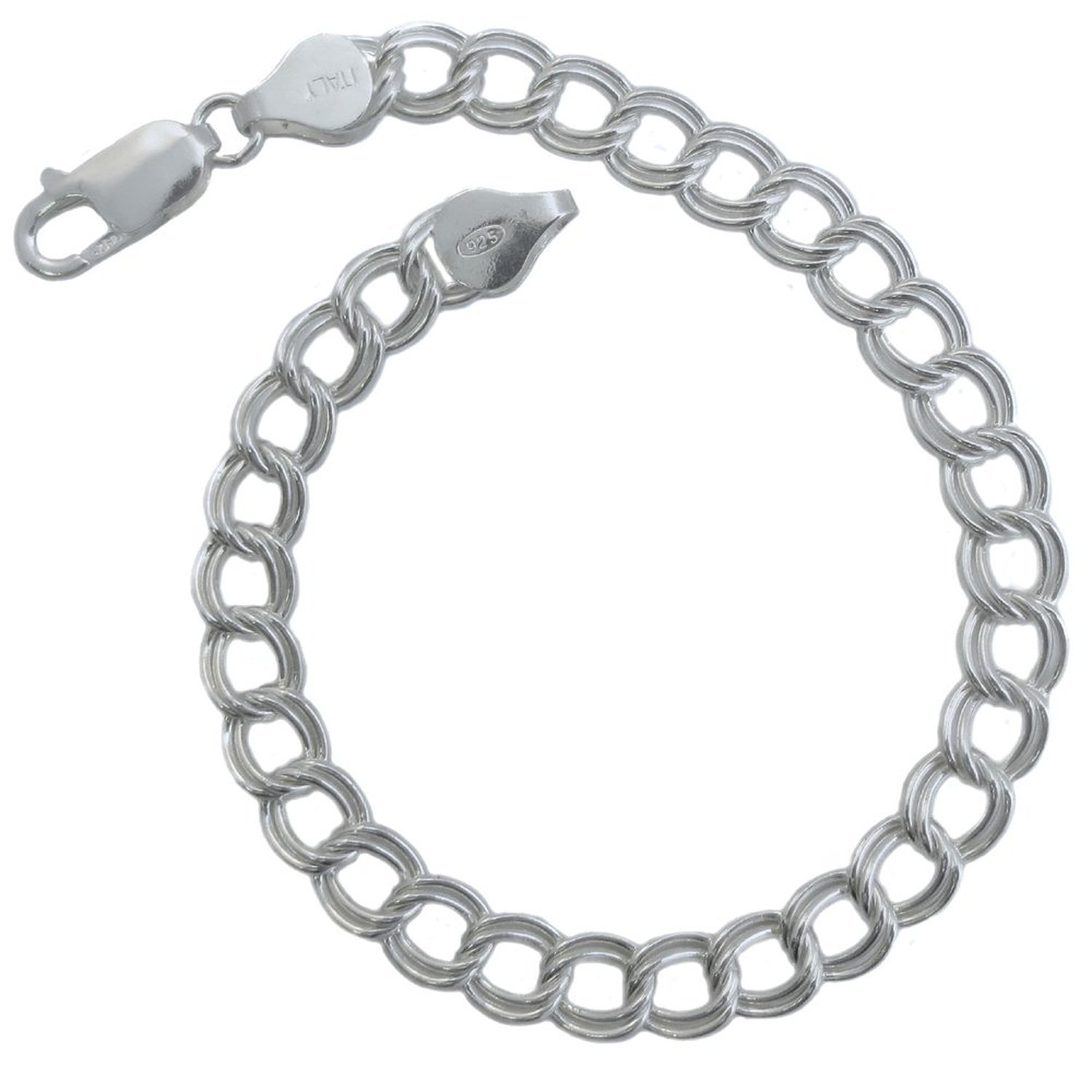 Amazon Milano Chains 925 Sterling Silver Italian Double Link