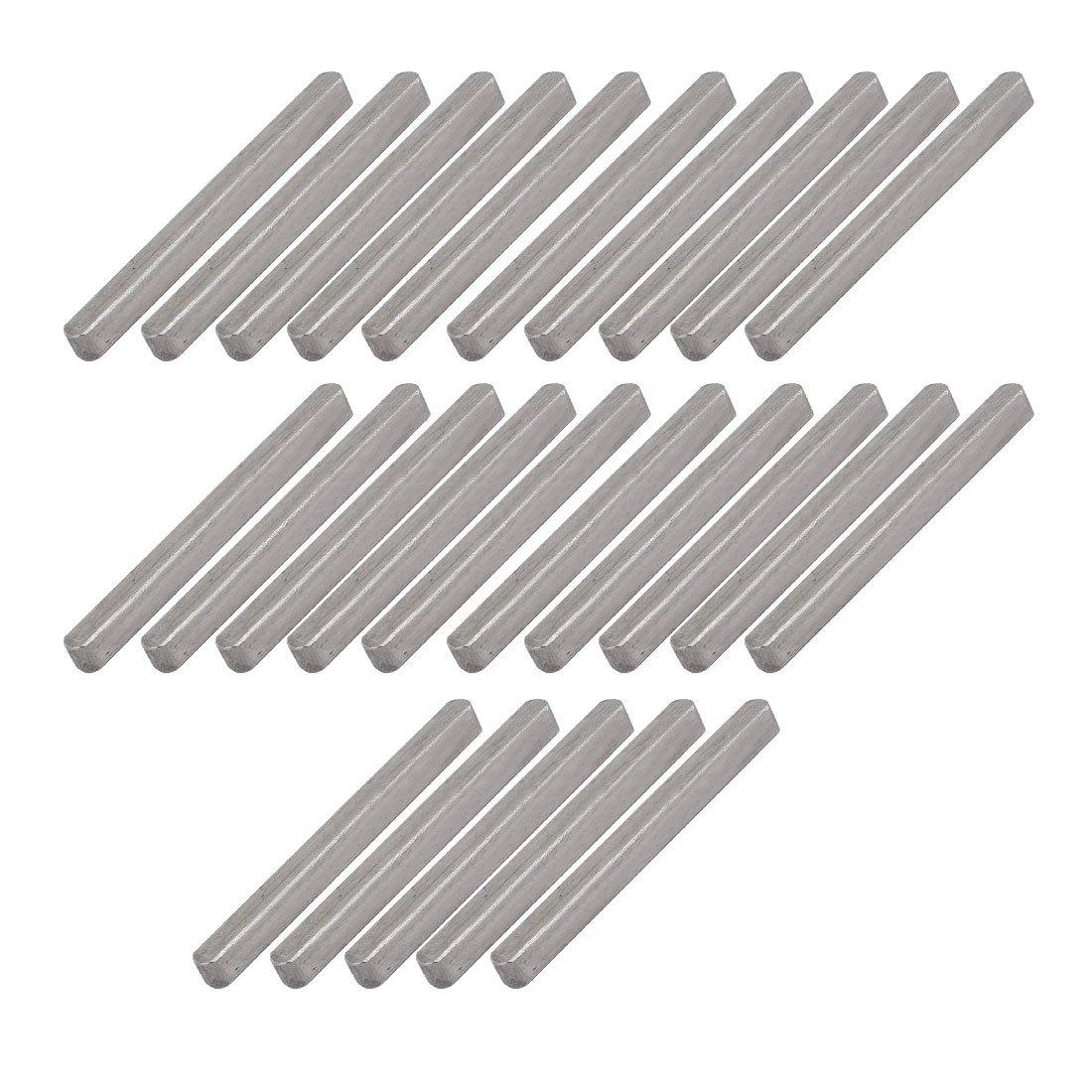 uxcell 45mmx4mmx4mm Carbon Steel Key Stock Keystock Gray 25pcs