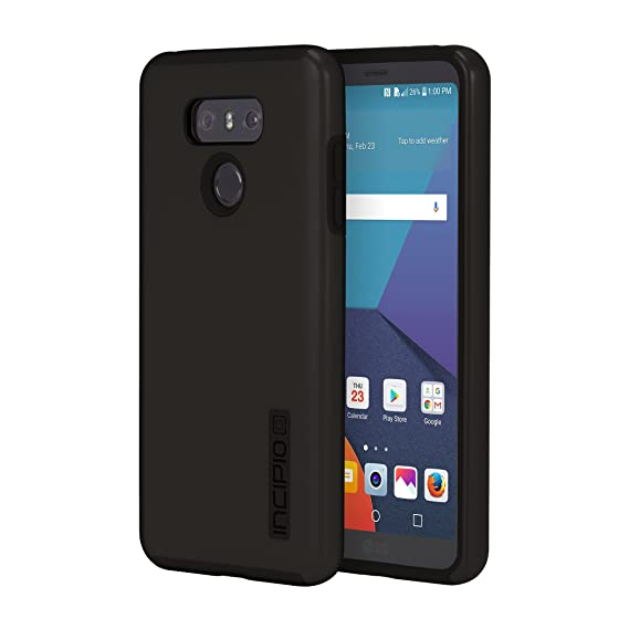 LG G6 Case, Incipio[Hard Shell] [Dual Layer] DualPro Case for LG G6 - Black/Black