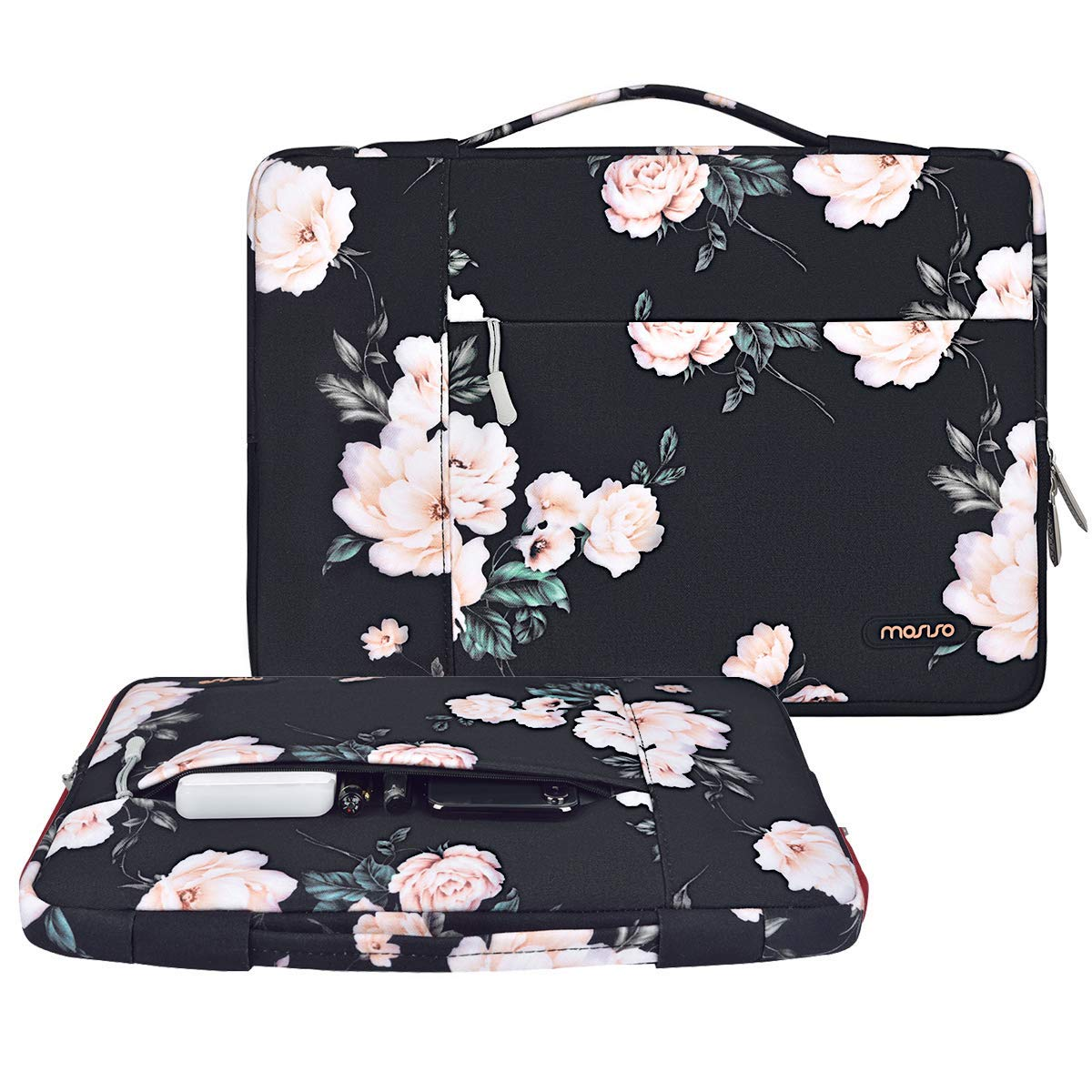 MOSISO Malet/ín Compatible 13-13.3 Pulgadas MacBook Pro Retina//MacBook Air//Surface Laptop 2 2018 2017//Surface Book 2//1 Azul Marino Poli/éster Protectora Multifuncional Funda Bolso