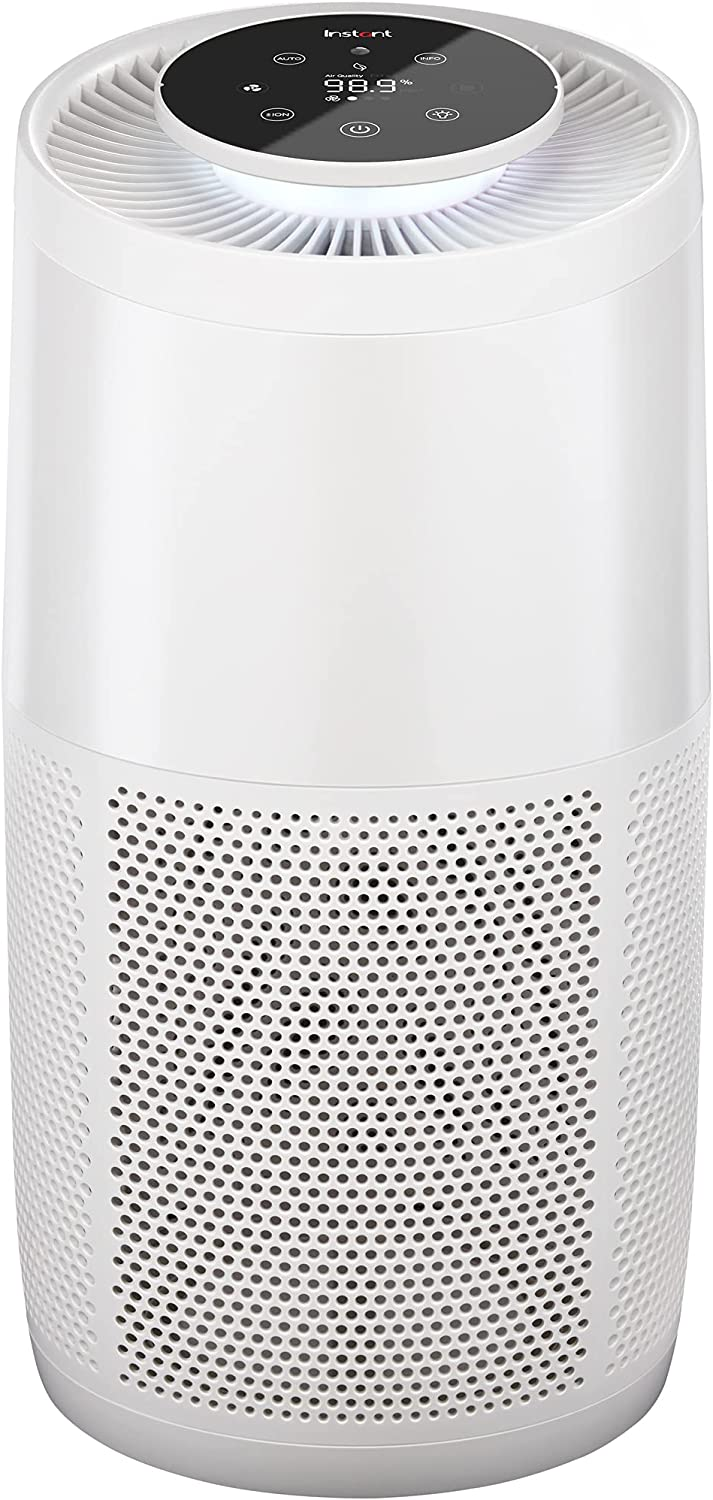 Instant Air Purifier, Helps to remove 99.9% of Viruses, Bacteria and Allergens, Advanced 3-in-1 HEPA Filtration System with Plasma Ion Technology, Large Room, Pearl