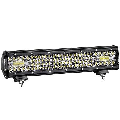 LED Light Bar 15 Inch, OFFROADTOWN 224W Quad Row LED Driving Light Spot Flood Combo Beam OSRAM Light Bar Off Road Fog Light for Truck Vehicle Jeep Wrangler ATV UTV SUV Ford Boat: Automotive [5Bkhe1505098]