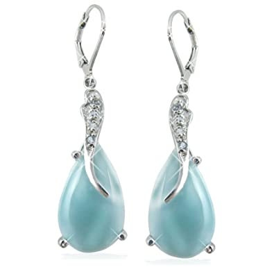 silver product from handcrafted gemstone com earrings s gift women american sterling dhgate oval for larimar shaped