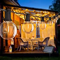 Guirnaldas Luminosas de Exterior,Bomcosy G40 Cadena Bombillas Solares 18ft/5.5m con…