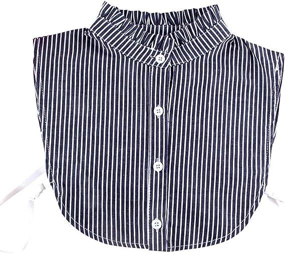 S-TROUBLE Mujeres Desmontable Dickey Falso Cuello Falso Camisa a Rayas con Volantes Accesorio de Ropa: Amazon.es: Hogar