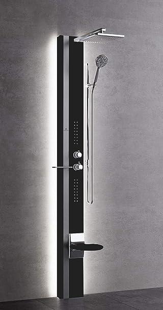 Columna de ducha Novellini Line 1 Light Hidromasaje LED equipada ...