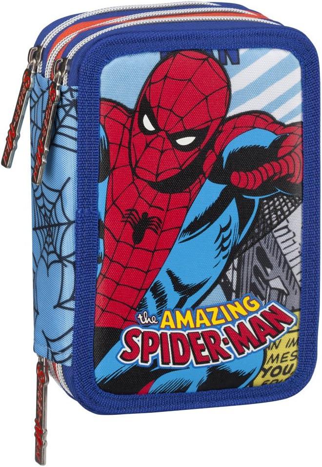 Franco Cosimo Panini Astuccio Corredo 3 Zip Spiderman