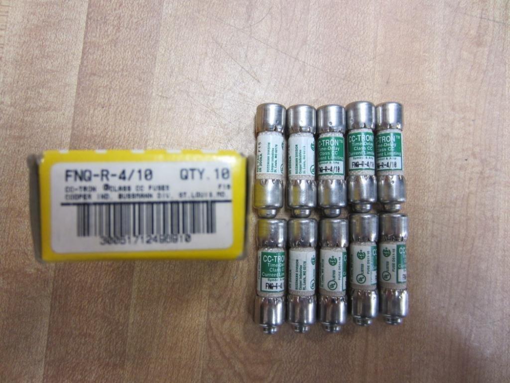 Bussmann FNQ-R-4/10 CC-Tron FNQR410 Fuse 4/10 Amp (Pack of 10)