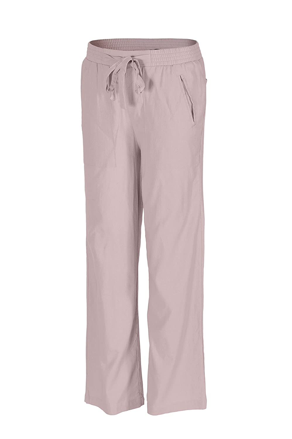 Beachcoco Womens Tie Waist Band Linen Pants