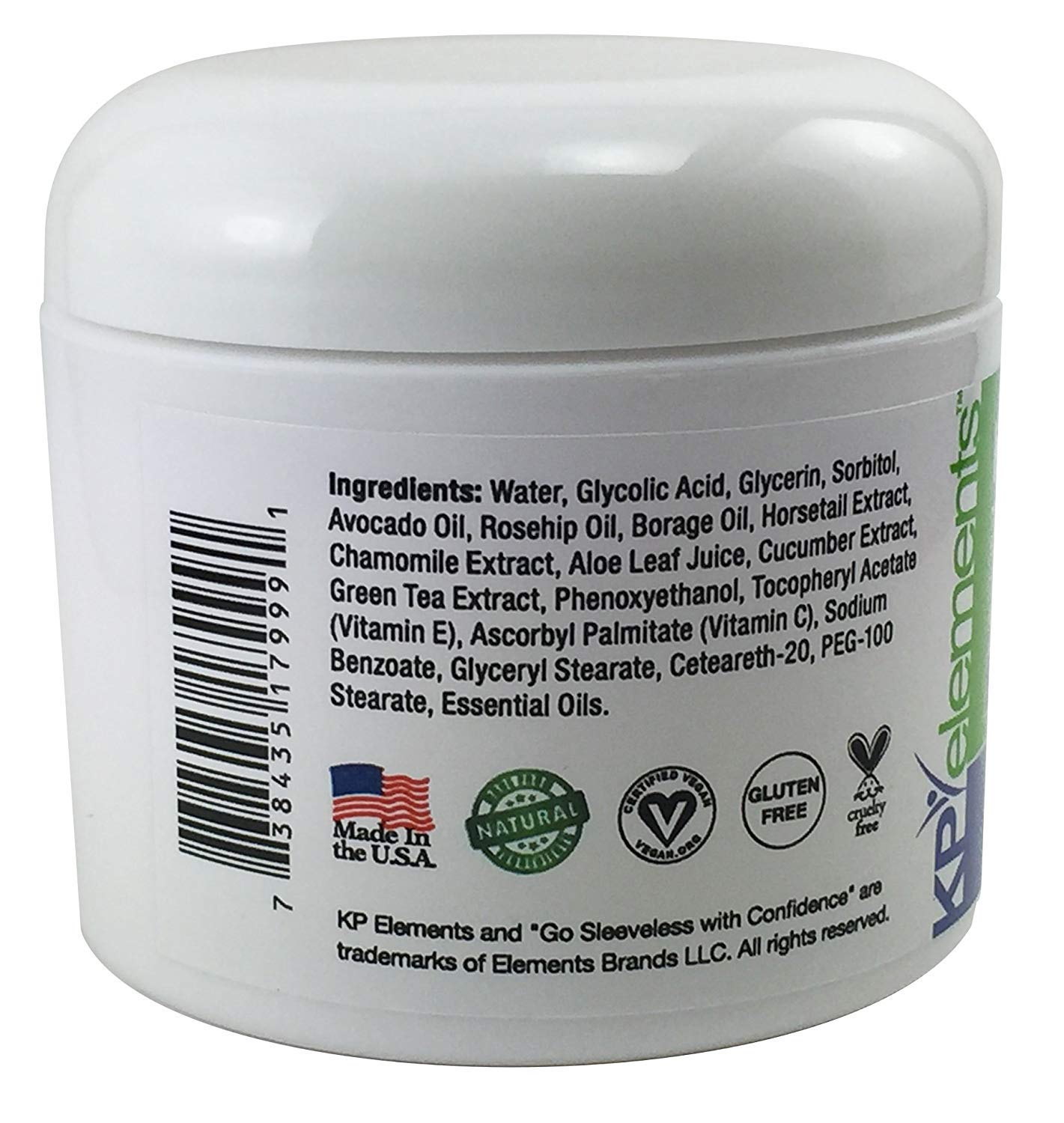 KP Elements Keratosis Pilaris Exfoliating Skin Cream Treatment, 4 fl oz. each, 2 Pack - All-Natural, Soothing, Healing Ingredients by KP Elements (Image #7)