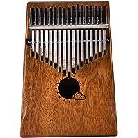 Muslady 17 Key Kalimba Mbira African Mahogany Thumb Piano Finger Musical Instrument with Bag
