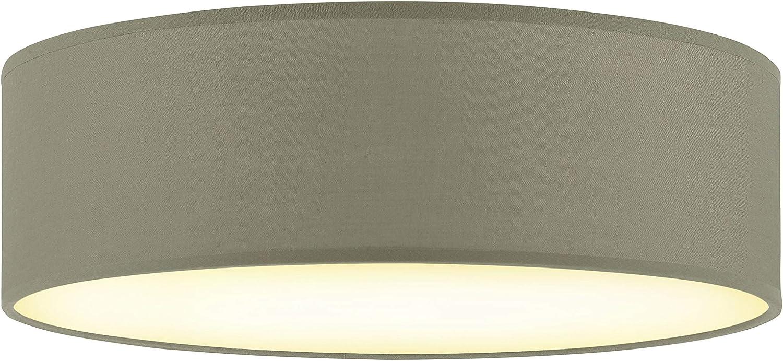 Decken Lampe Ø40cm mit 3 Philips LED 7,5W Leuchtmittel schwarz Wohn Zimmer Stoff