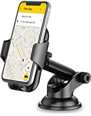 Car Phone Holder, TEUMI Phone Mount for Car Dashboard / Windshield, 360° Rotatable Extendable Arm Car Phone Cradle for iPhone Xs Max/XS/XR/X/8 plus/8/7/7 Plus/6, Samsung Galaxy S10 Plus/S10/S10e//Note 9/8