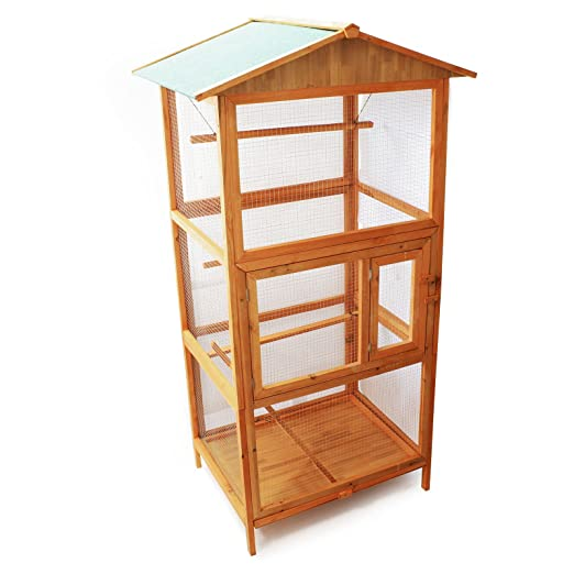 pajarera jaula de madera jaula de pájaros jaula de pájaros: Amazon ...