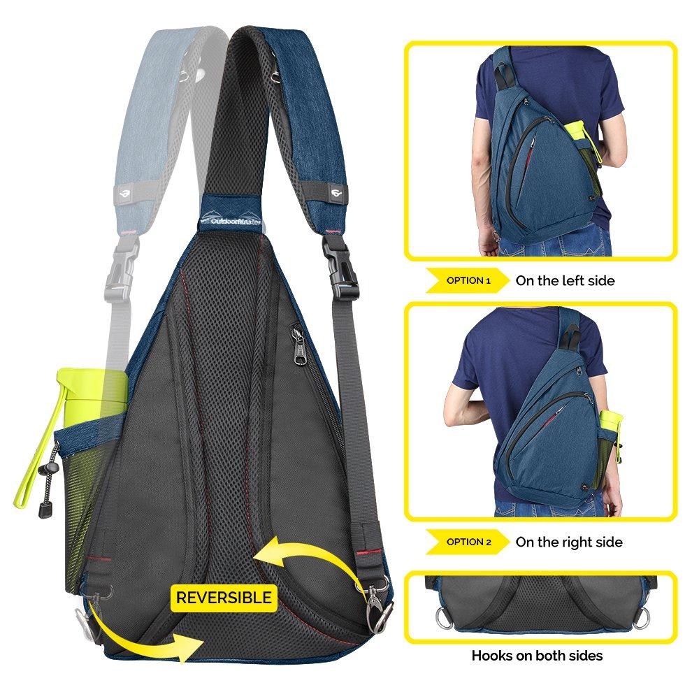 OutdoorMaster Sling Bag - Crossbody Backpack for Women   Men - BSA Soar 23730d87f87d9