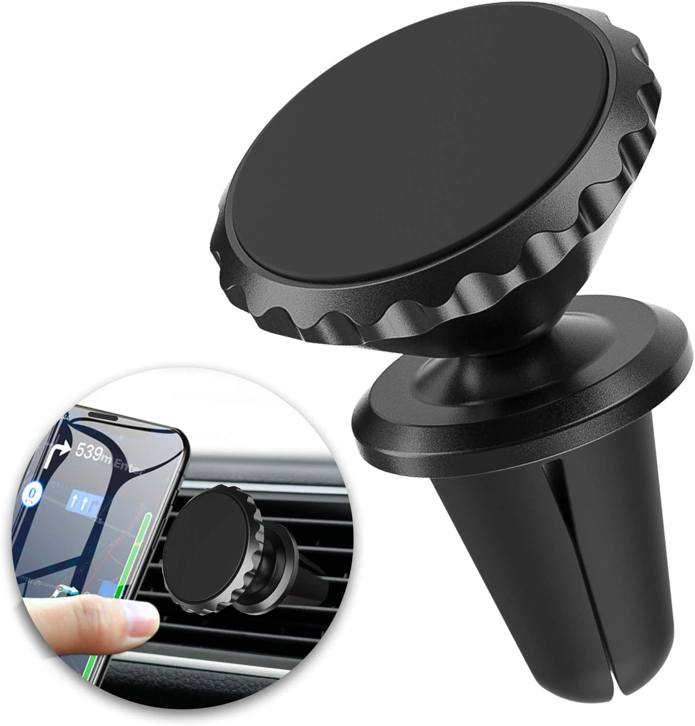 Magnetic Phone Holder Mount for Car Air Vent Unobstructed Car Vent Mount 2021 New Cell Phone Holder Super Strong Magnet Vent Phone Holder 360/° Rotation Car Dashboard Stand for iPhone Samsung