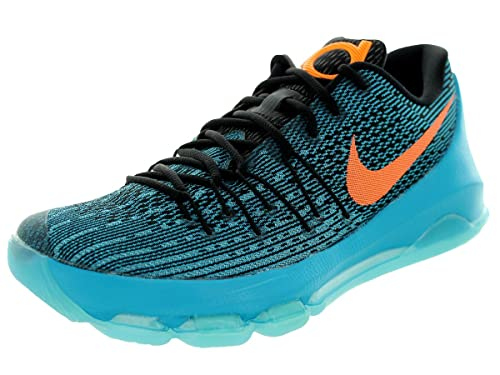 half off ff2e5 03f66 Nike KD 8 Men's Shoes Black Lagoon/Bright Citrus-Black Tide ...