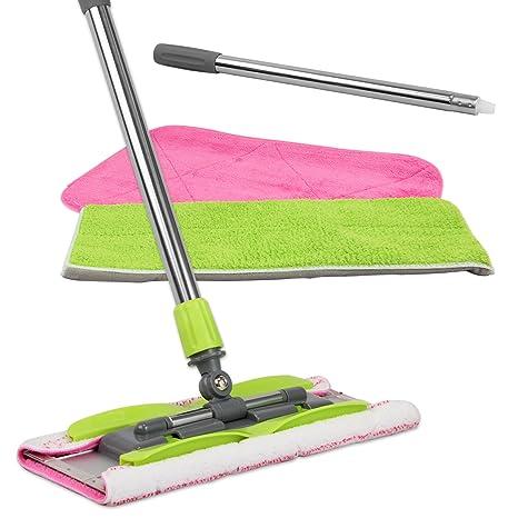 Amazon com: LINKYO Microfiber Hardwood Floor Mop with 3 Flat