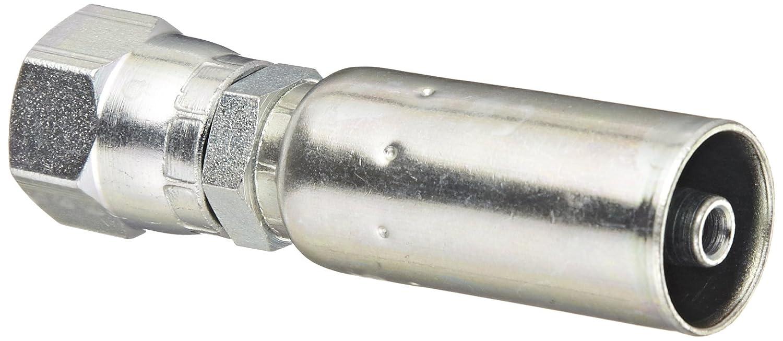 Eaton Weatherhead Coll-O-Crimp 04U-604 Female Swivel Fitting, SAE 37-Degree, Low Carbon Steel, 1/4' Hose ID, 1/4' Tube Size 1/4 Hose ID 1/4 Tube Size