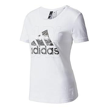 Adidas Foil Logo Camiseta, Mujer, (Blanco), 2XS: Amazon.es: Deportes y aire libre