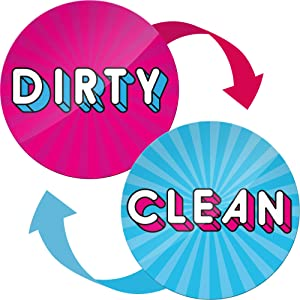 Dishwasher Clean Dirty Magnet Sign - Funny Kitchen Magnet - Housewarming Gifts New Apartment for Women and Men - Gifts for Mom from Son and Daughter - Clean Dirty Dishwasher Magnet