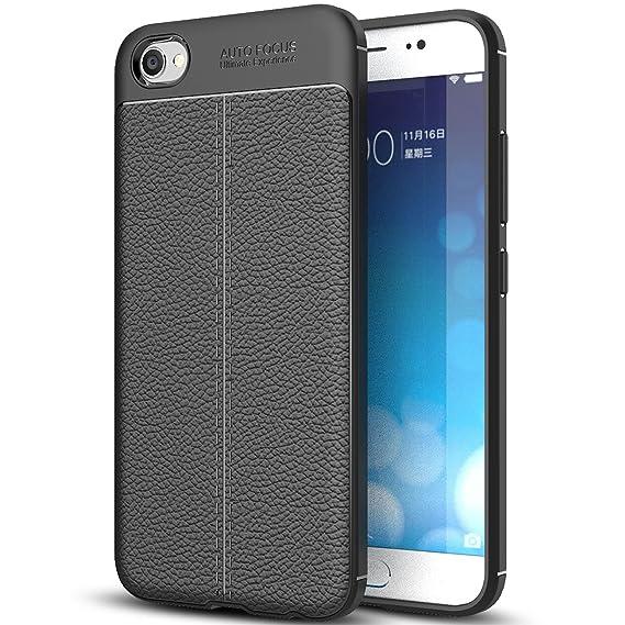 wholesale dealer 0433a cf6f0 Amazon.com: vivo V5 Plus Case, vivo V5 Plus Faux Leather Case, Soft ...