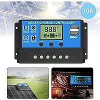 EEEKit Controlador de Carga Solar, Regulador Inteligente de batería de Panel Solar de Doble Puerto USB, Controlador de…