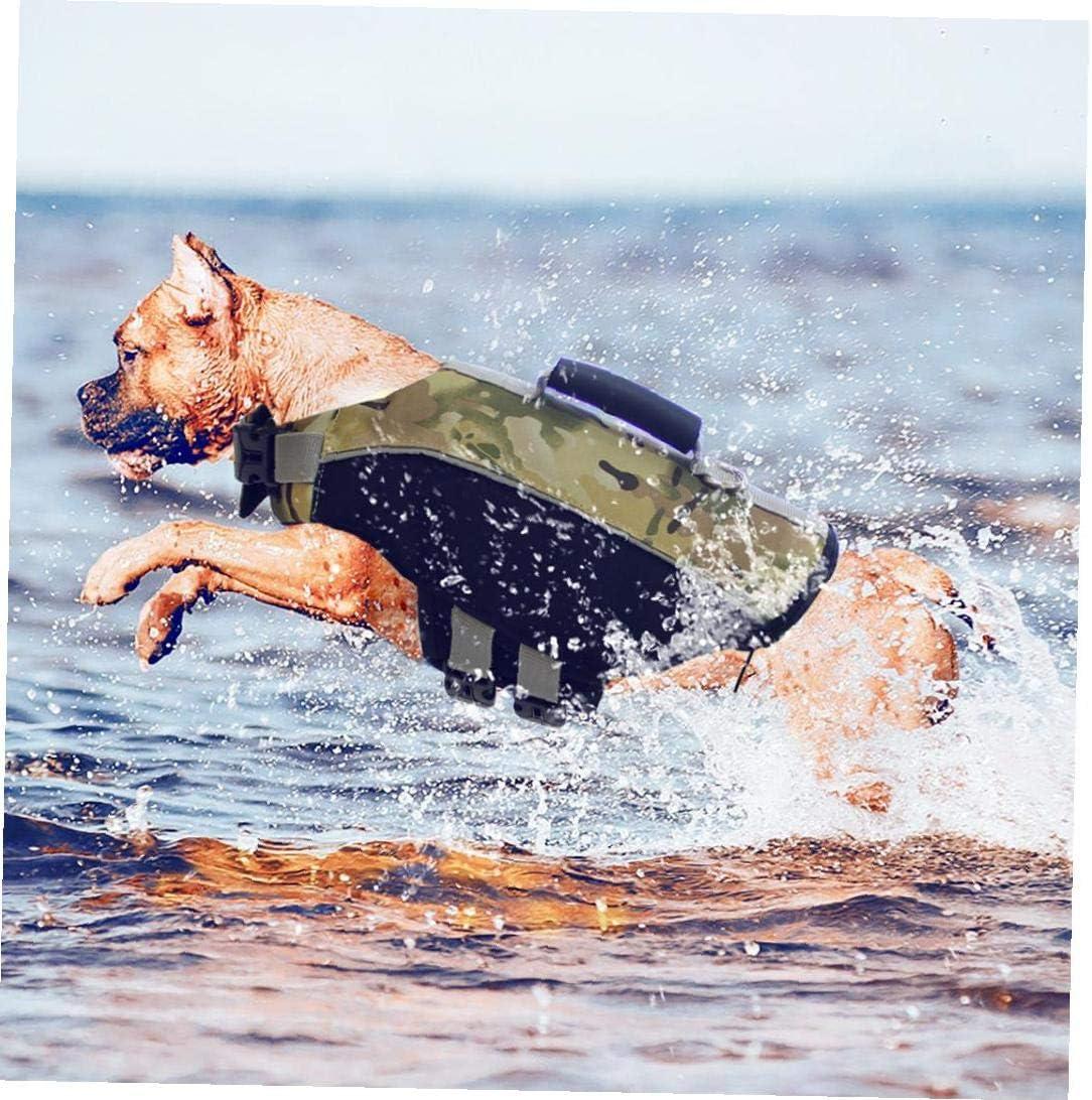 YZLSM Hundeschwimmweste Hundeschwimmweste Chin Float Hochauftriebsk/örper Sichere Hundeschwimmweste Pet Supplies XL Gr/ün-Tarnung