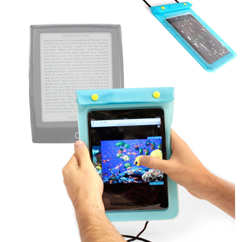 DURAGADGET ブラック 防水 多目的 電子リーダー バッグ ネックストラップ付き Thalia eBook Reader 4インク Thalia Bookeen Cybook Odyssey Thalia Tolino Shine Thalia Tablet PC 4用   B00DJ2XEA4