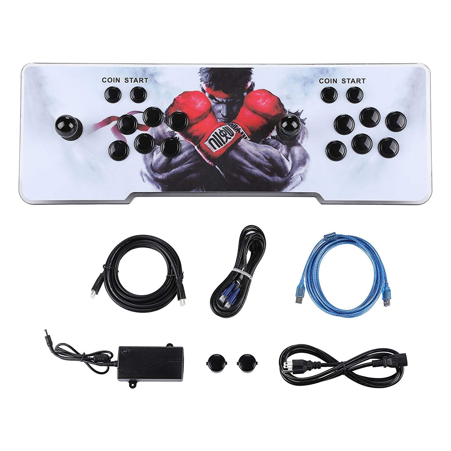 Happybuy Real Pandora's Box 6 Arcade Game Console HD Retro 3D Pandora's Key 7 Arcade Video Game 1500 in 1 Arcade Console with Arcade Joystick Support Expand Games for PC / Laptop / TV / PS4 by Happybuy (Image #2)