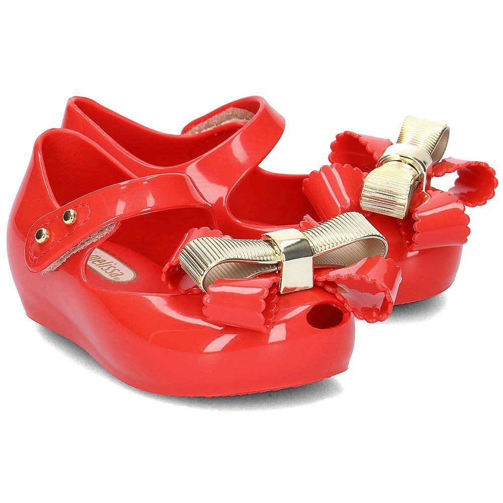 94a1795560e Mini Melissa Mini Ultragirl Chrome Bow 01371  Amazon.co.uk  Shoes   Bags