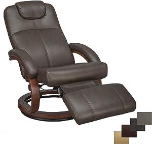 "RecPro Charles 28"" RV Euro Chair Recliner Modern Design RV Furniture (1, Chestnut)"